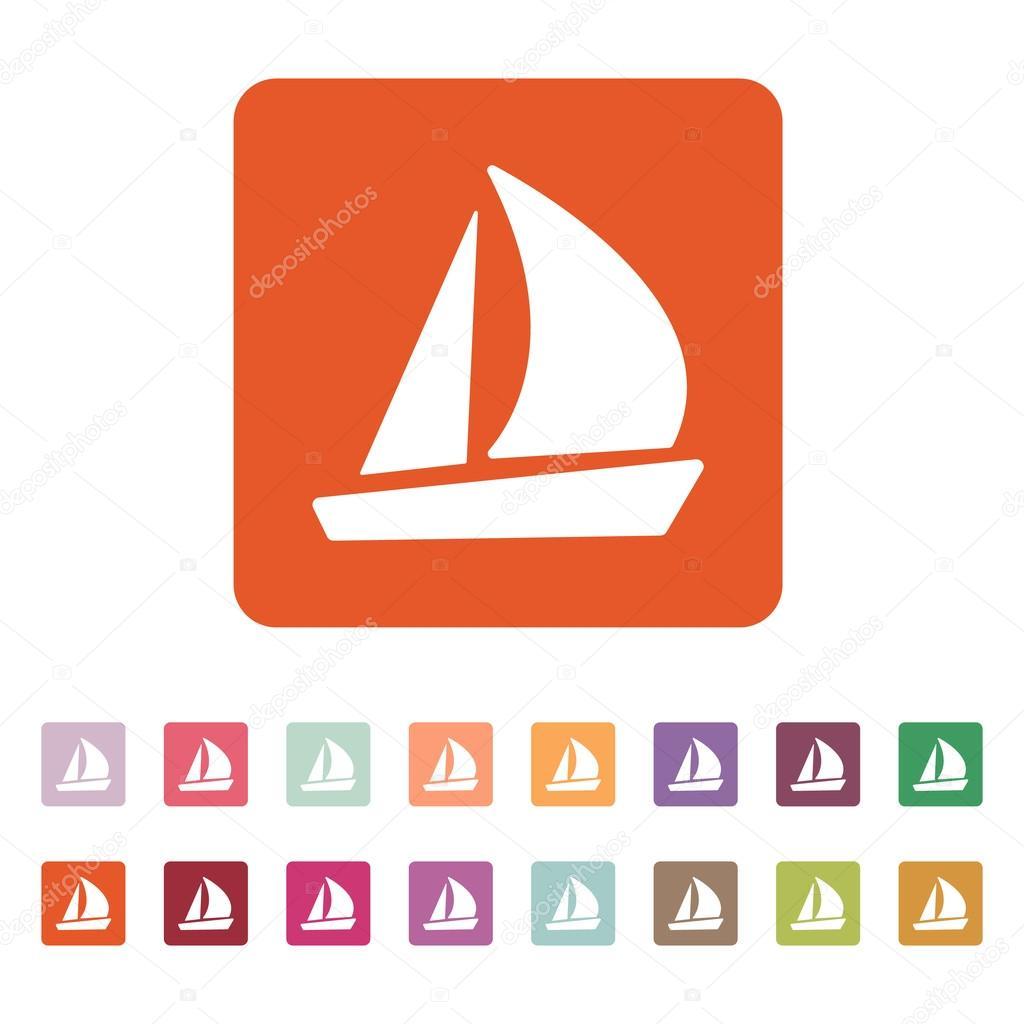 The sailboat icon sailing ship symbol flat stock vector sailing ship symbol flat stock vector buycottarizona