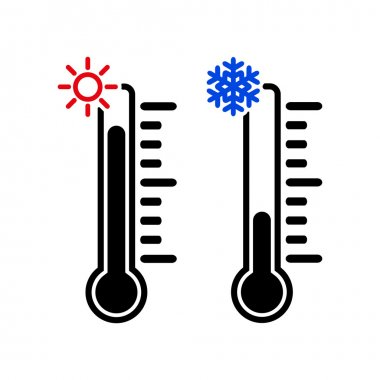 The thermometer icon. High and Low temperature symbol. Flat Vector illustration clip art vector