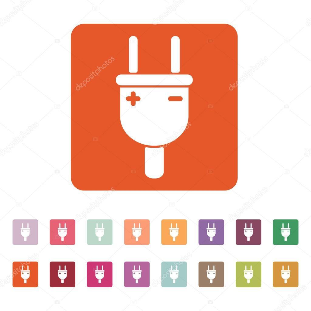 Der Netzstecker-Symbol. Elektrische Stecker Symbol. Wohnung ...