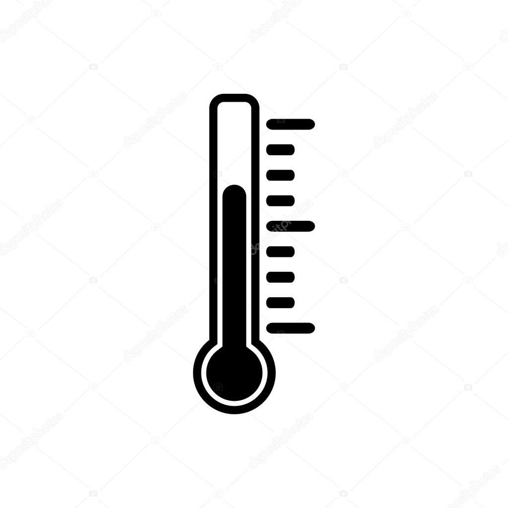 The thermometer icon thermometer symbol flat stock vector thermometer symbol flat vector illustration vector by vladvm biocorpaavc Choice Image