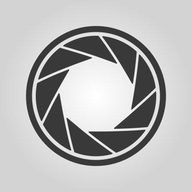 The diaphragm icon. Aperture symbol.