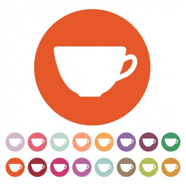 The cup icon. Tea symbol. Flat