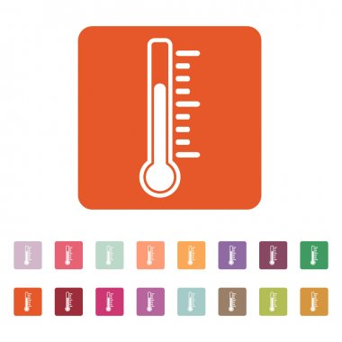 The thermometer icon. Thermometer symbol. Flat Vector illustration. Button Set clip art vector