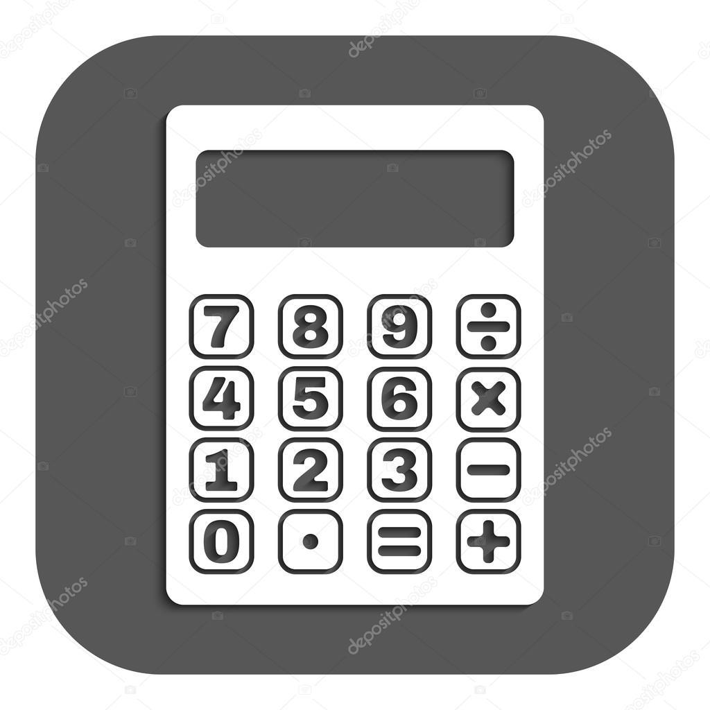 Das Symbol Taschenrechner Stockvektor Vladvm 73633361