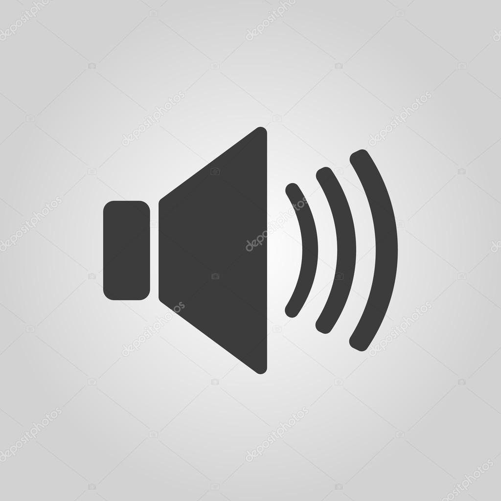 Das Lautsprecher-Symbol. Ton-Symbol. Wohnung — Stockvektor © Vladvm ...