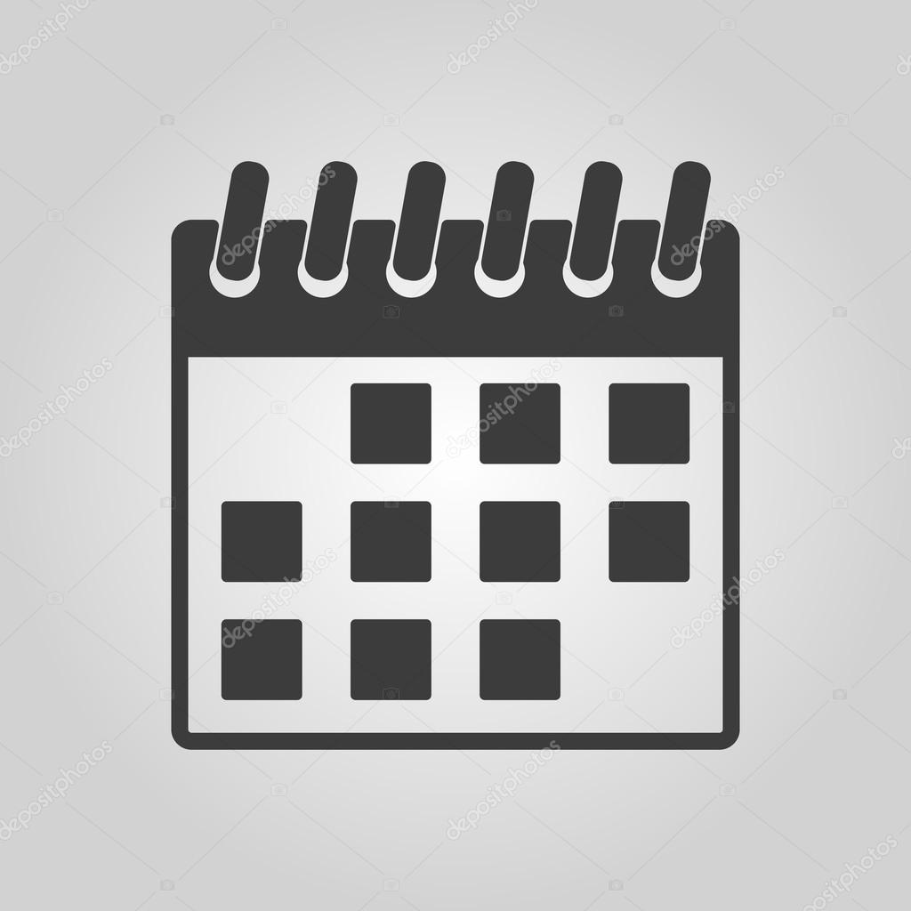 Simbolo De Calendario.L Icona Del Calendario Simbolo Di Calendario Vettoriali