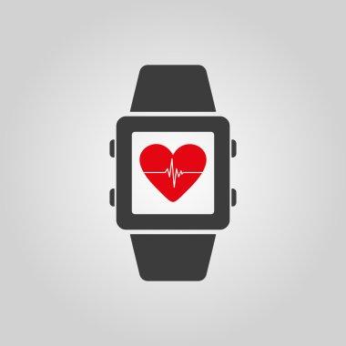 The smart watch icon. Fitness bracelet symbol