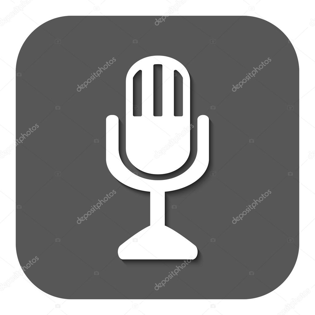 The mic icon. Microphone symbol. Flat — Stock Vector © Vladvm #74191825