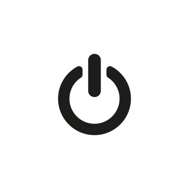 The power icon. Power symbol. Flat