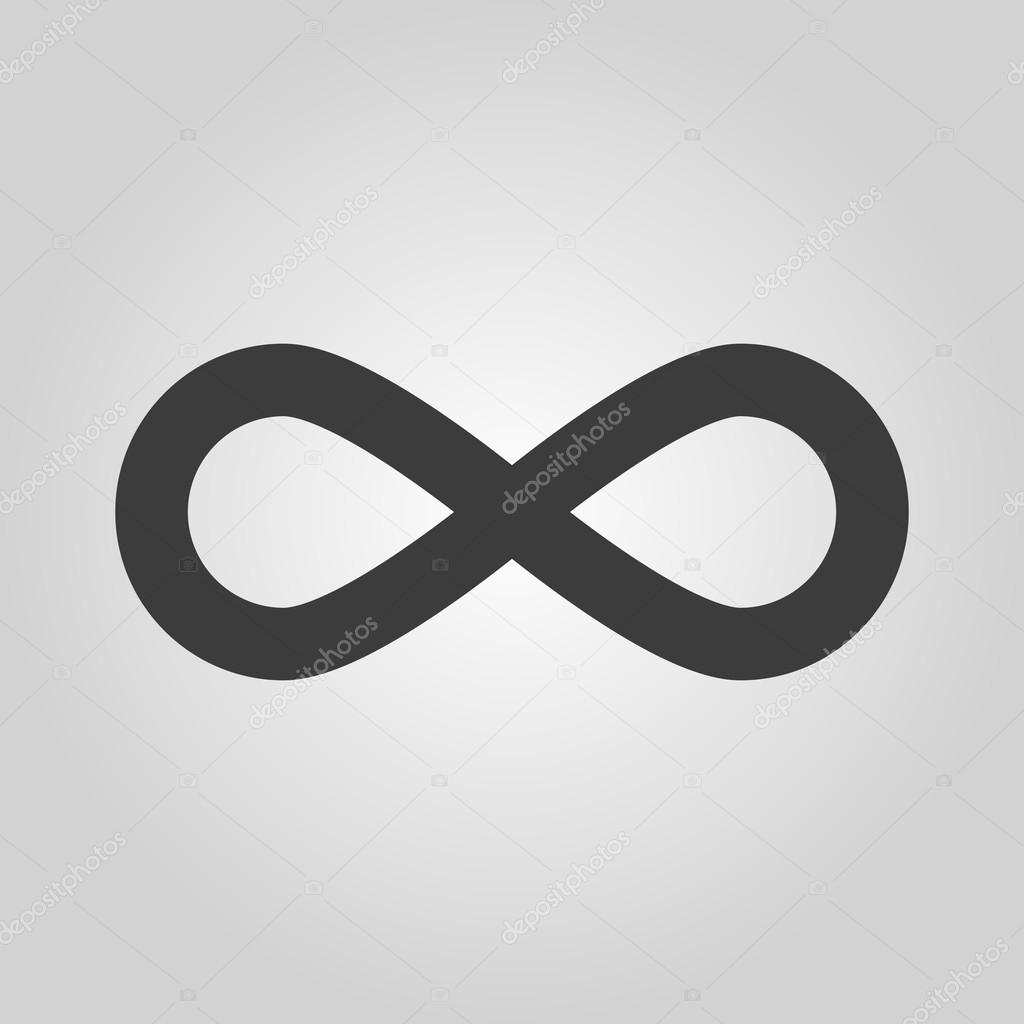 The Infinity Icon Infinity Symbol Flat Stock Vector Vladvm