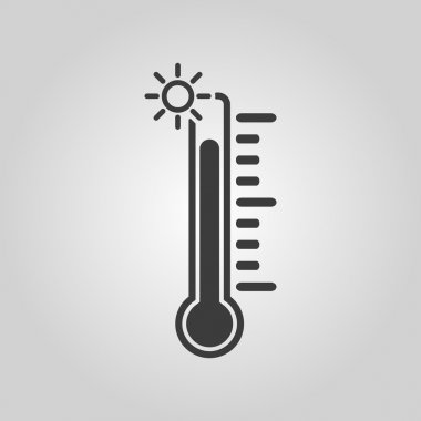 The thermometer icon. High temperature symbol. Flat Vector illustration clip art vector