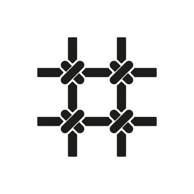 The prison bars icon. Grid symbol. Flat