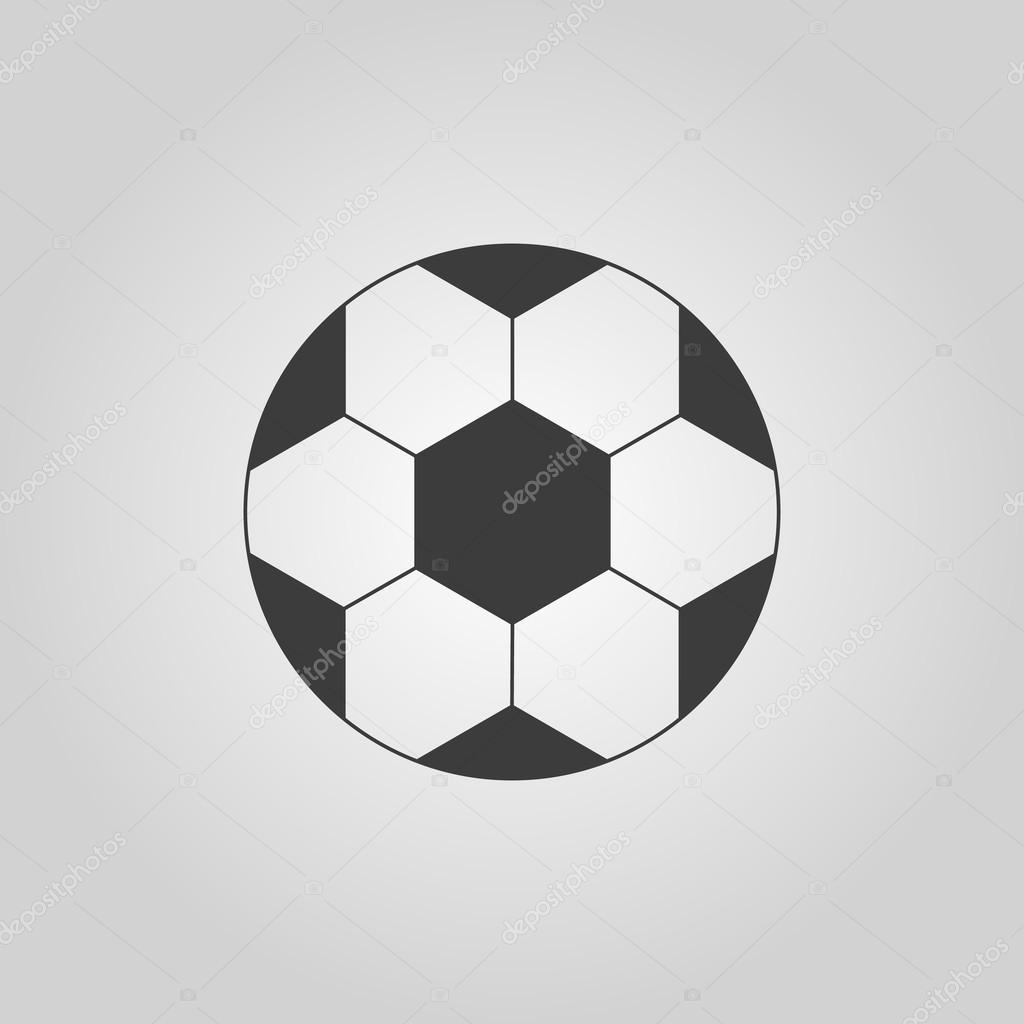 Die Fussball Ikone Fussball Symbol Flat Stockvektor