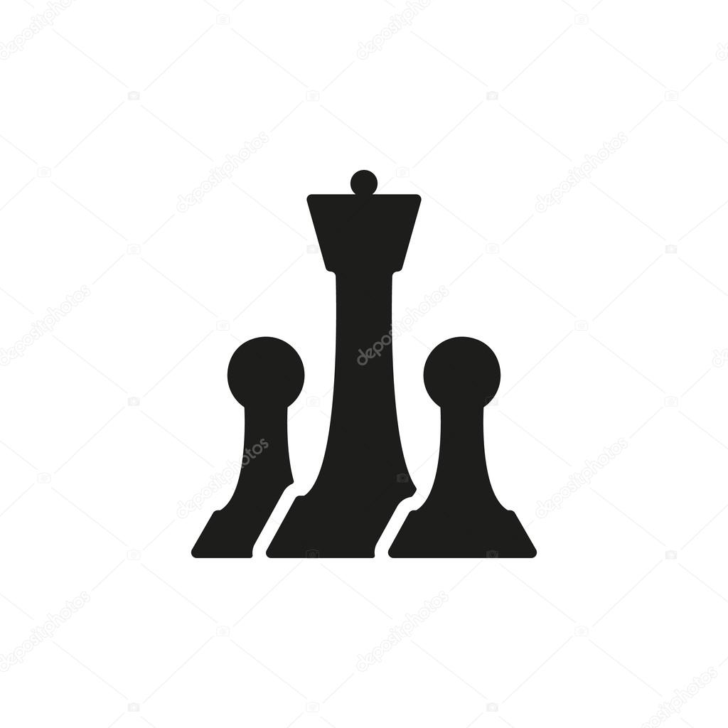 The Chess Icon Game Symbol Flat Stock Vector Vladvm 75716741