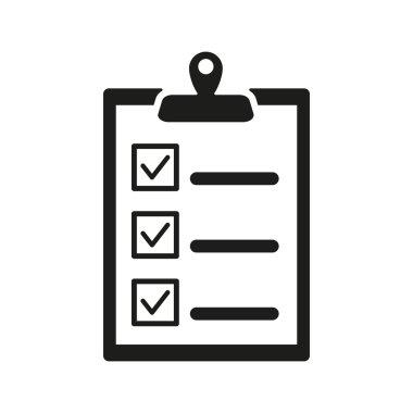 The checklist icon. Clipboard symbol. Flat Vector illustration stock vector