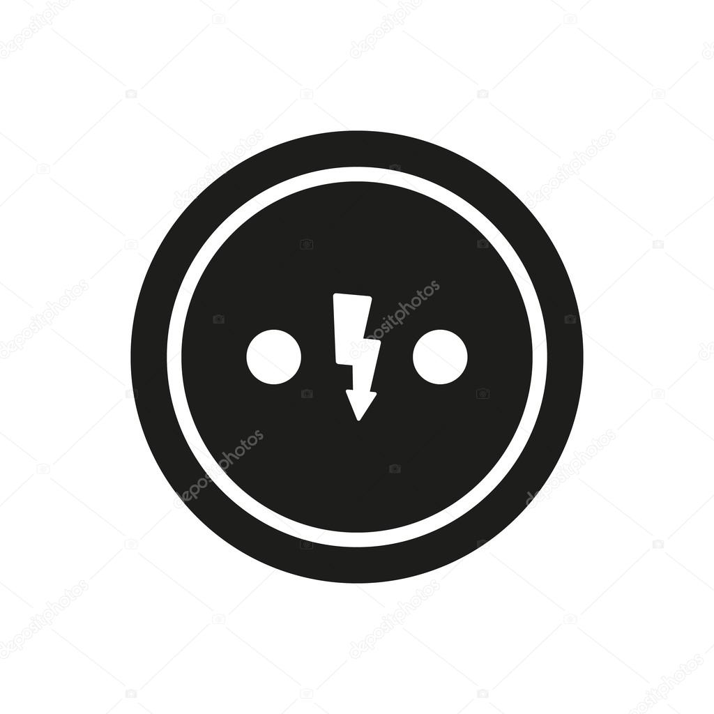 The Electrical Outlet icon. Socket symbol. Flat — Stock Vector ...