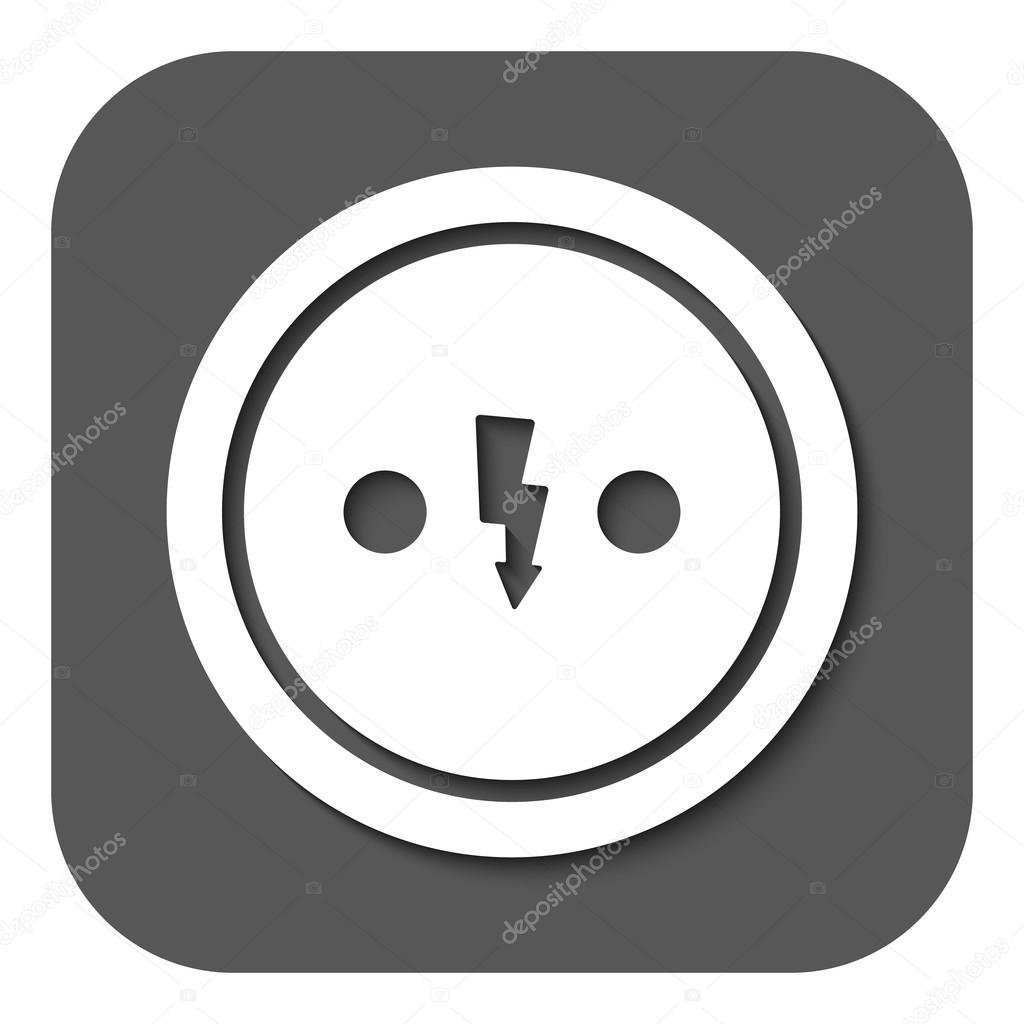 The Electrical Outlet Icon Socket Symbol Flat Stock Vector