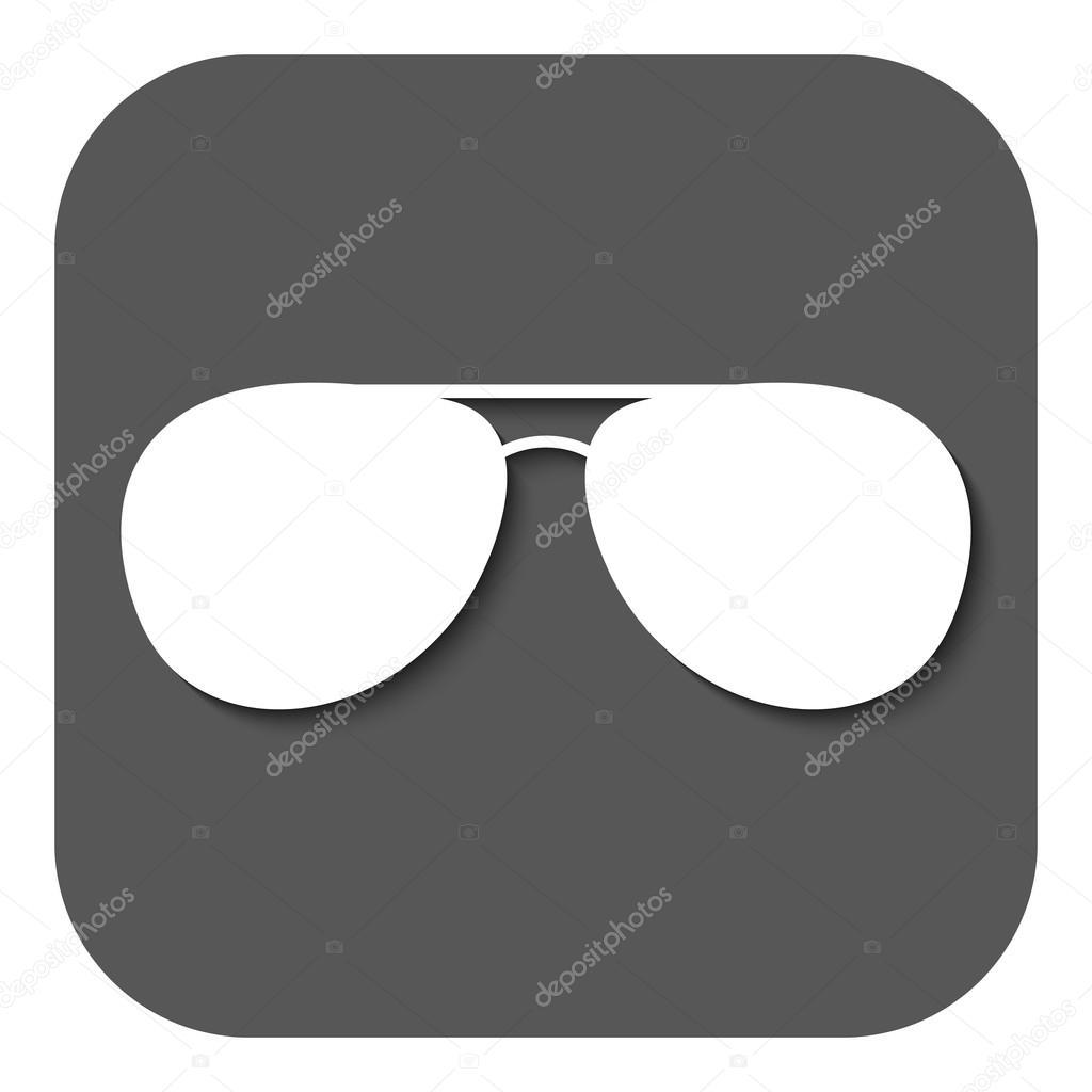 1b7f2a66aa0f90 de zonnebril pictogram. glazen symbool. Flat — Stockvector © Vladvm ...