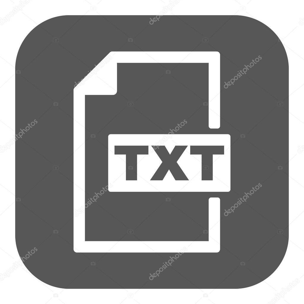 El icono de Txt. Símbolo de formato de archivo de texto. Plano ...