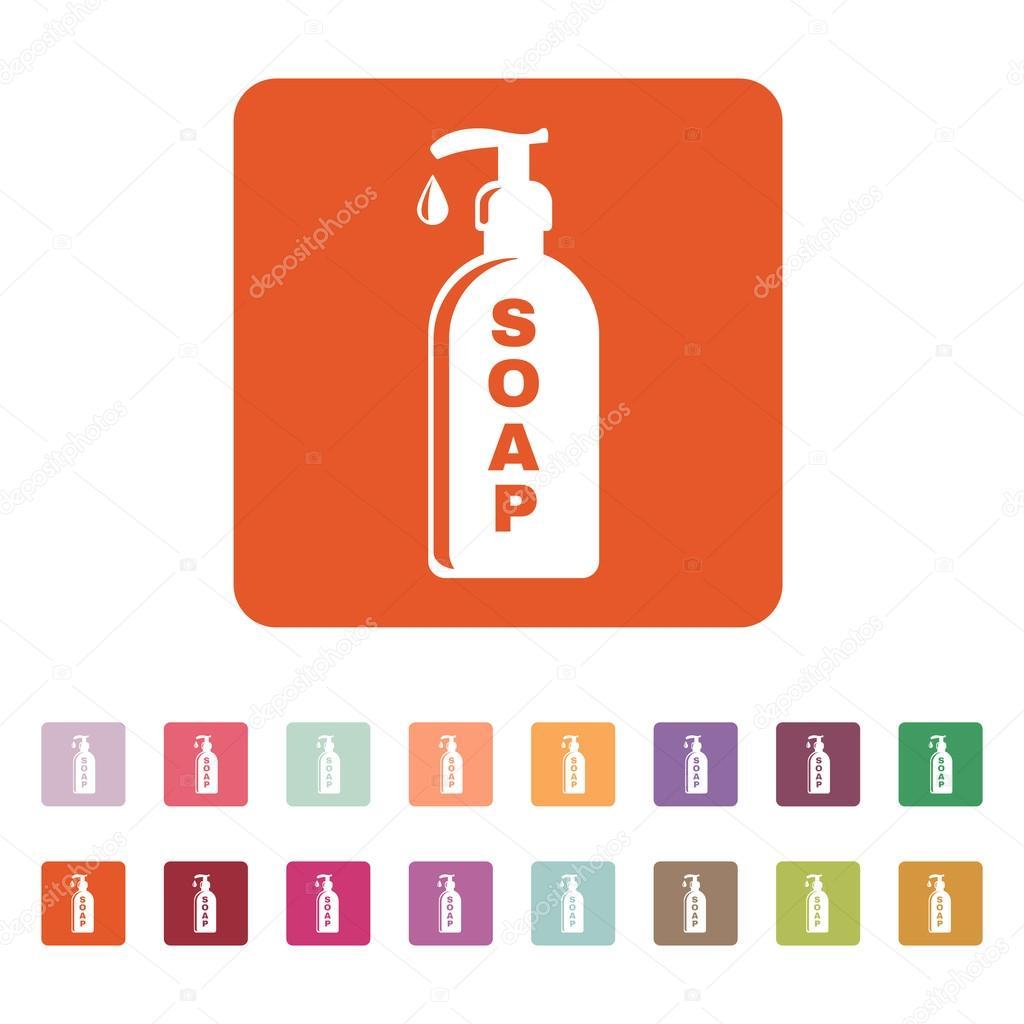 The liquid soap icon hand wash symbol flat stock vector vladvm hand wash symbol flat stock vector buycottarizona Image collections