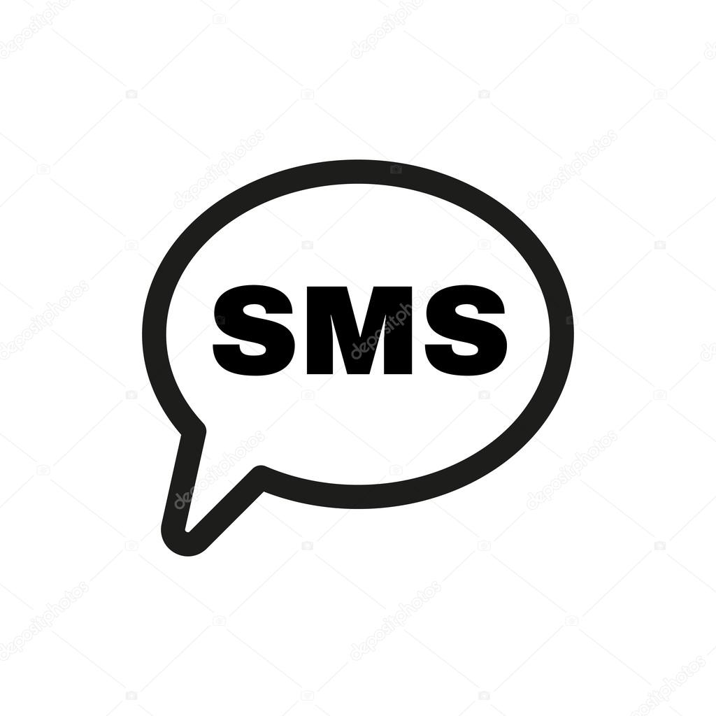 The sms icon text message symbol flat stock vector vladvm the sms icon text message symbol flat stock vector biocorpaavc Images