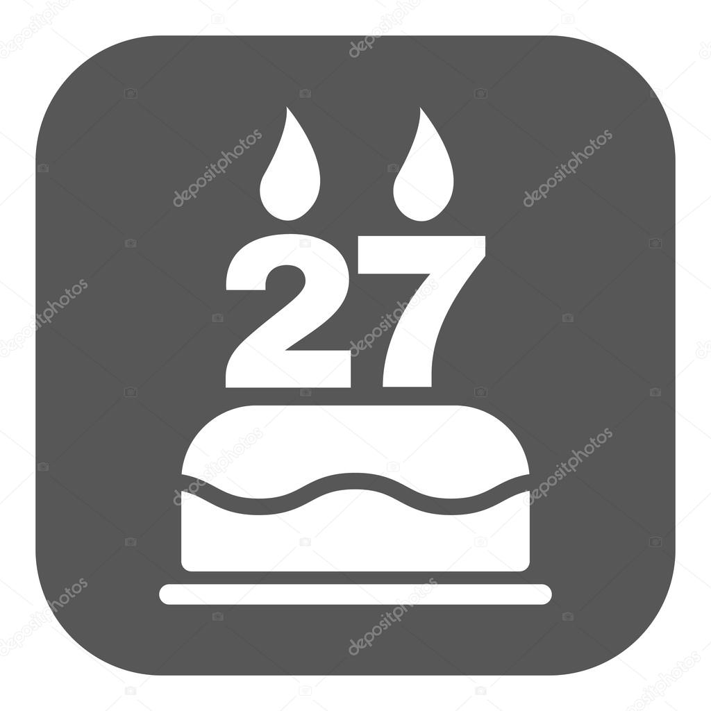 The birthday cake with candles in the form of number 27 icon the birthday cake with candles in the form of number 27 icon birthday symbol buycottarizona