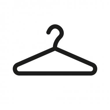 The hanger icon. Coat rack symbol. Flat