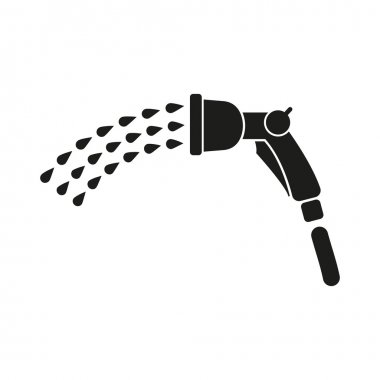The spray gun icon. Irrigation and watering symbol. Flat