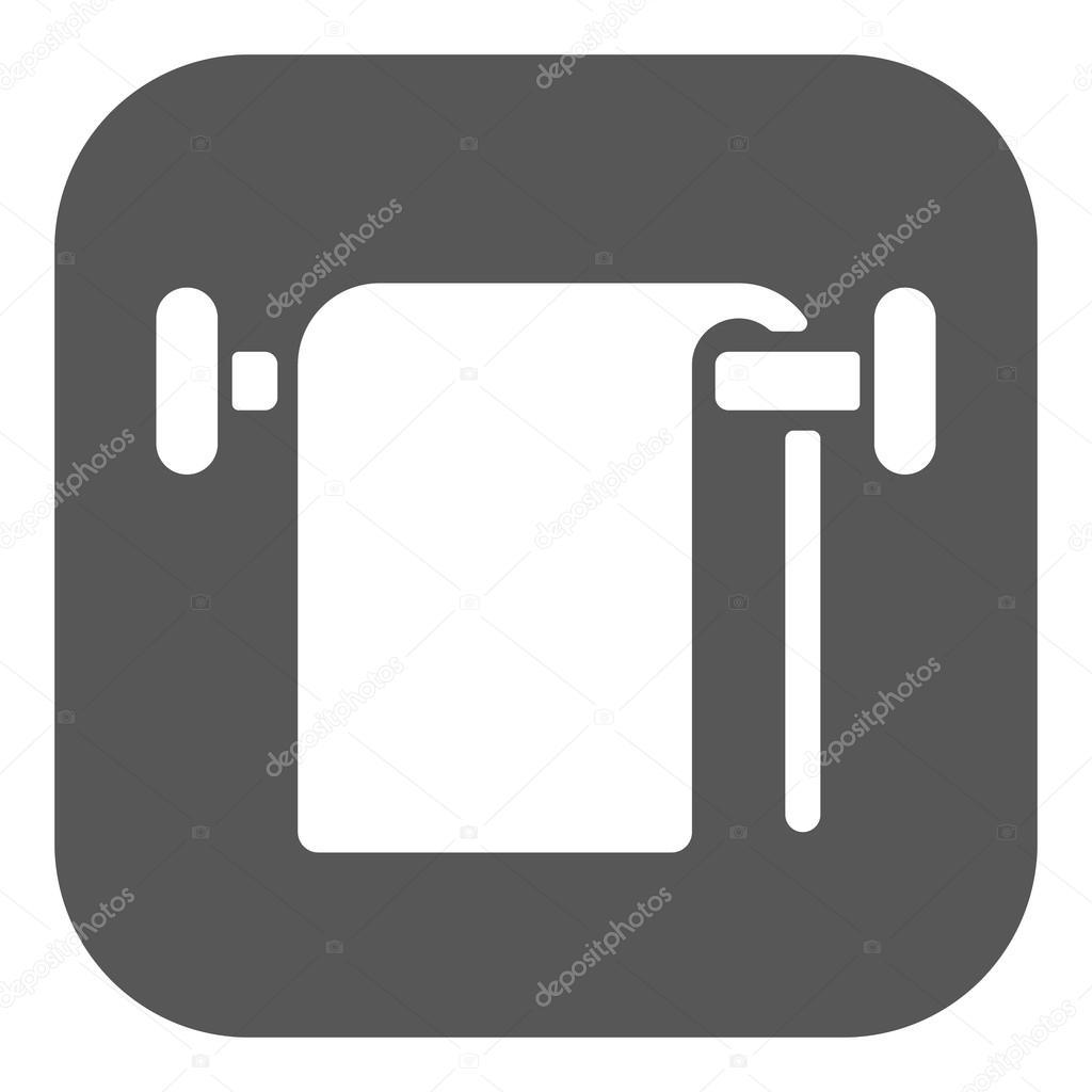 Bathroom Symbol Flat Vector Illustration Button By Vladvm