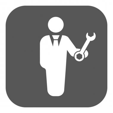 The support icon. Engineer and repair, technician, fixing symbol. Flat