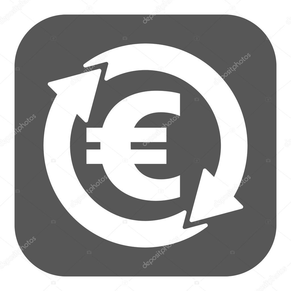 l ic ne euro change de devises tr sorerie et l argent richesse symbole de paiement plat. Black Bedroom Furniture Sets. Home Design Ideas