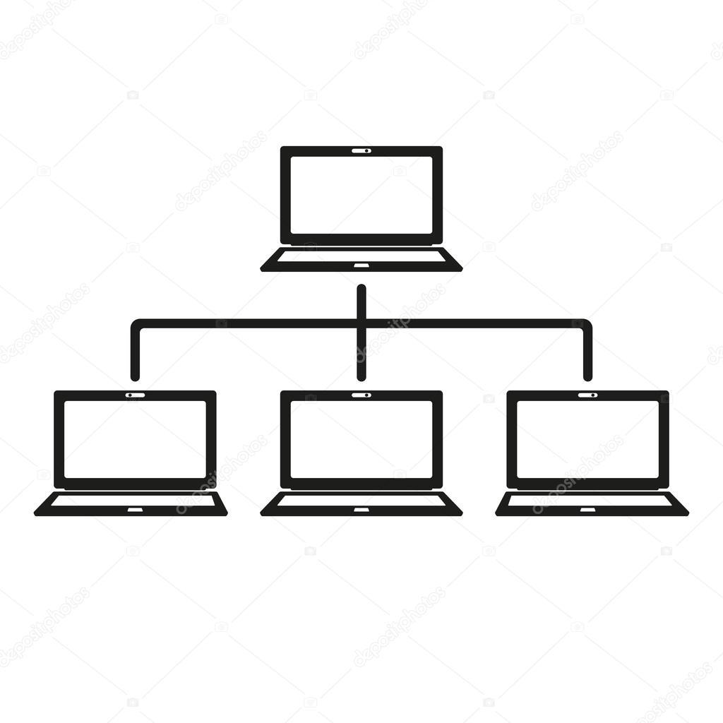 Das Netzwerk-Symbol. Verbindung und Internet, Datenbank-Symbol ...