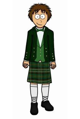 Mens north ireland national clothing vector illustration