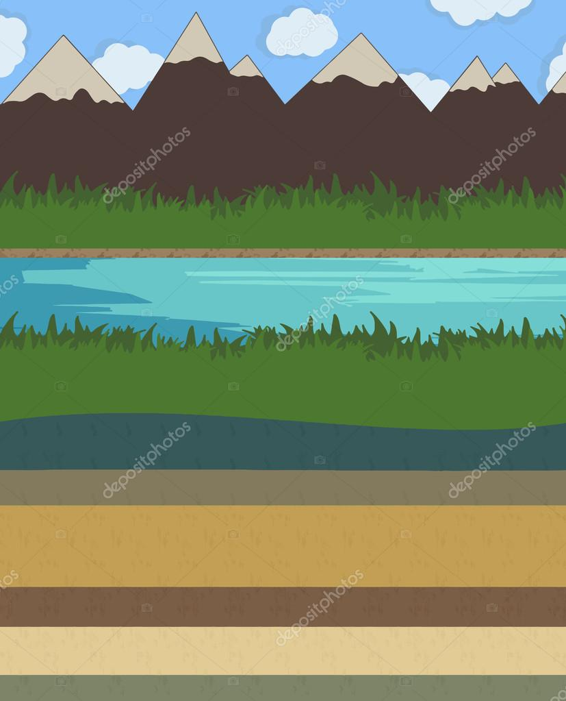 Nature layer ground vector illustration