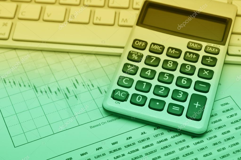 Calculator Button Plus On Keyboard And Graph Paper Accounting B