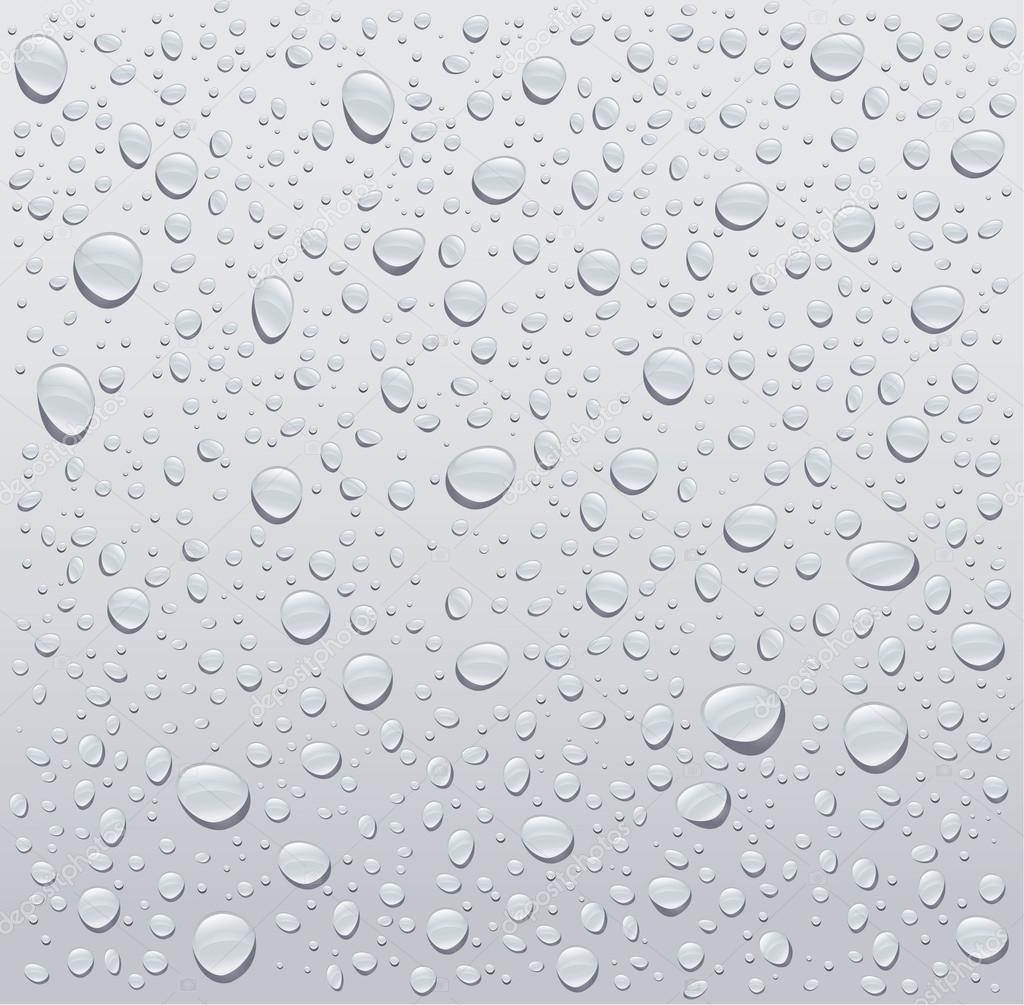 gray water droplets background stock vector