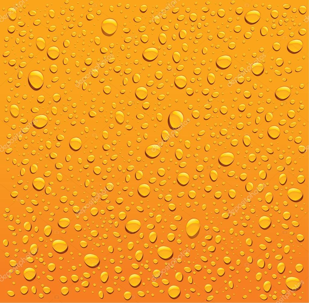 orange water droplets background stock vector