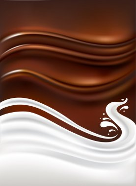 Chocolate and milk background