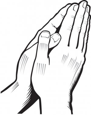 vector illustration of praying hands