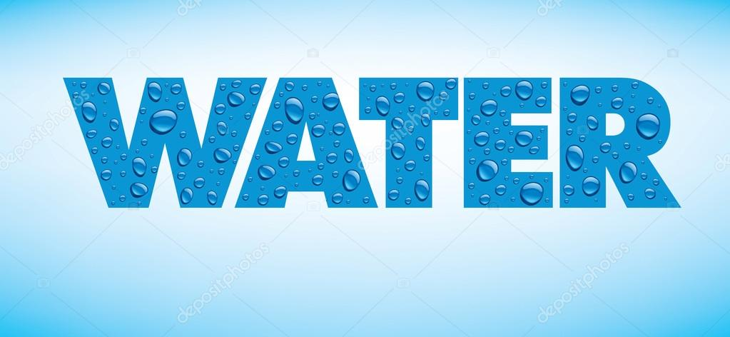 water drops on blue background with place for text