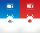 Stříkající mléko s borůvky a jahody