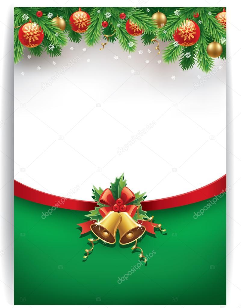 Fondo feliz navidad con bolas de navidad campanas cintas for Imagenes de bolas de navidad