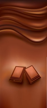 piece of chocolate background
