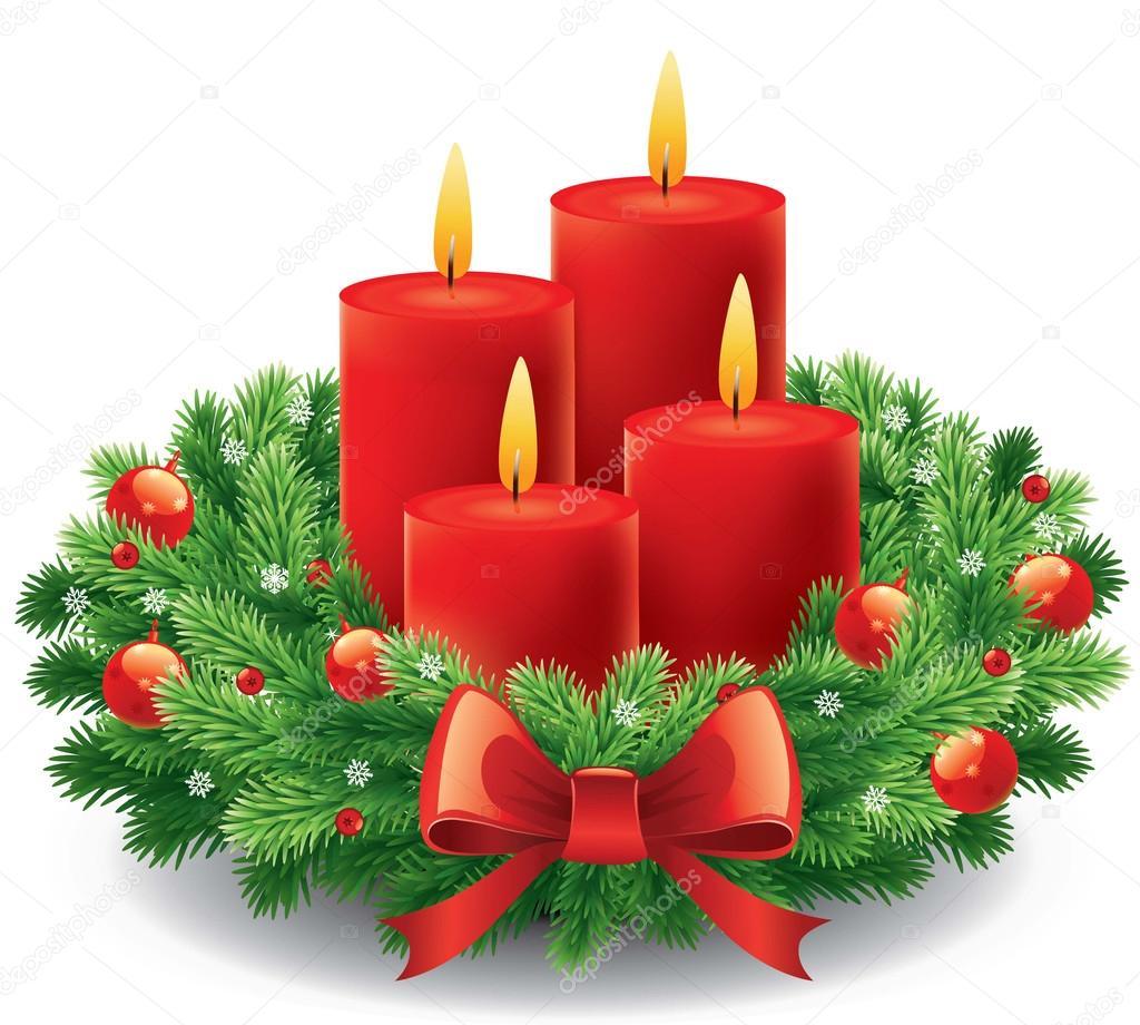 Corona de adviento con quema de velas para la pre navide as vector de stock volod2943 91390746 for Velas navidenas