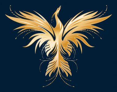 Golden Phoenix silhouette