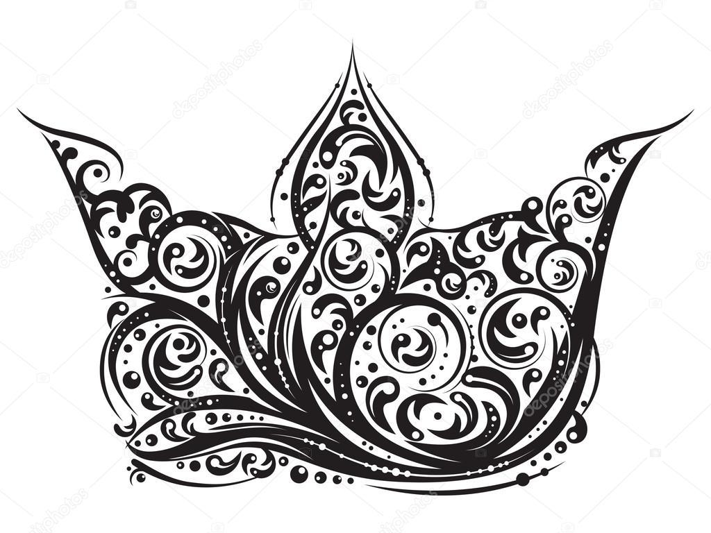 Corona De Princesa Para Tatuaje Tatuaje De La Corona Vector De
