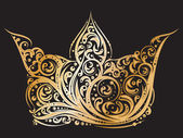 Fotografie Golden ornated crown