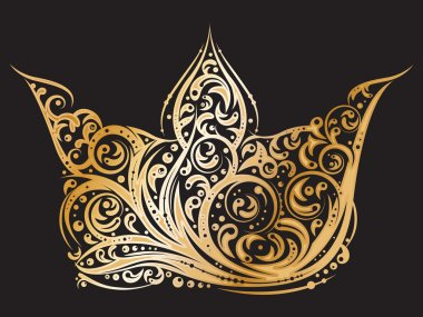 Golden ornated crown