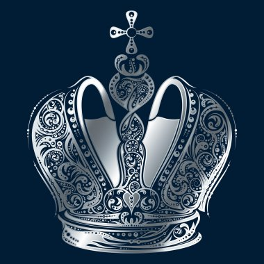 Silver imperial ornated crown