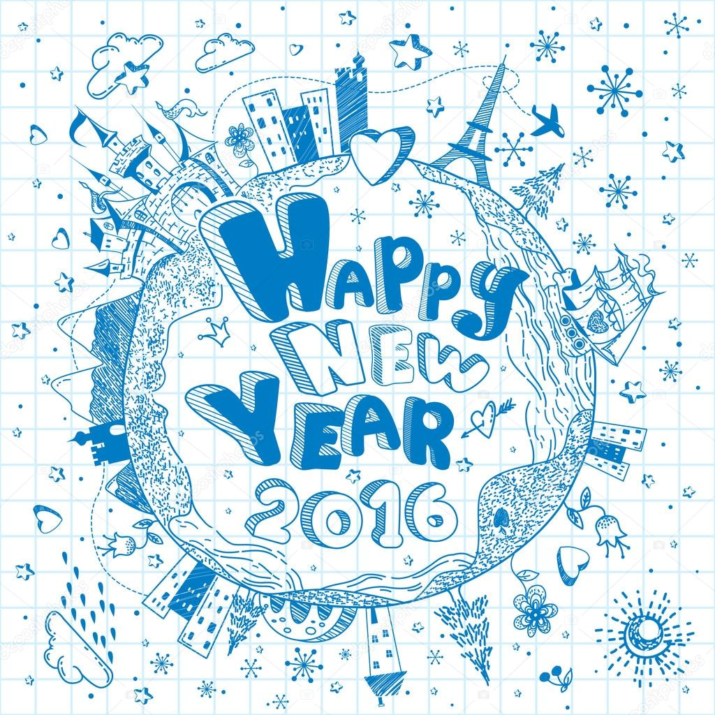 Happy New Year Doodle 38